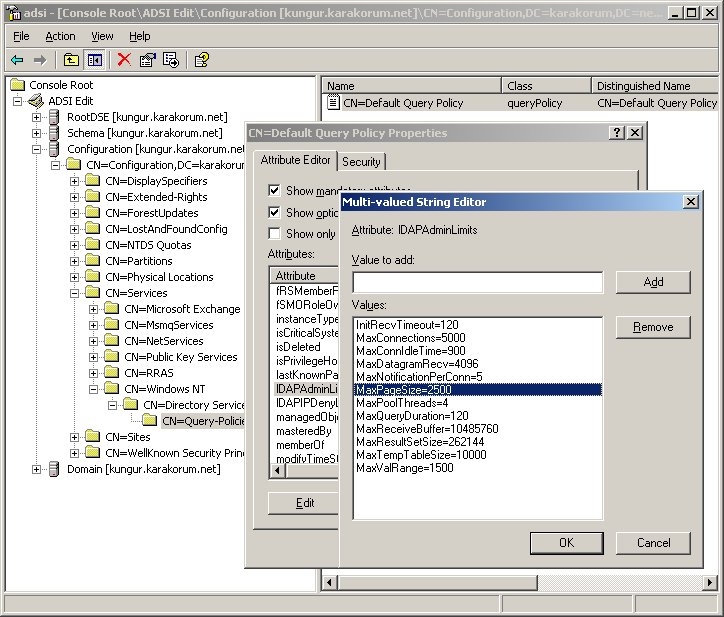 ADSIEdit Screenshot